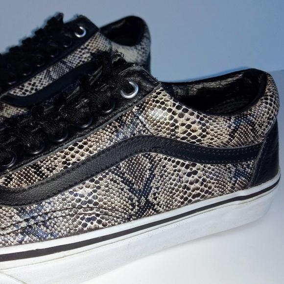 Vans Old Skool Snakeskin Leather Sneakers M8 W9.5.  M 5bff1c9c9519965c82ea7acd 511eb270e